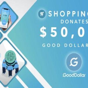Crypto E-Commerce Giant Shopping.io Supports eToro Social Impact Non-Profit, GoodDollar
