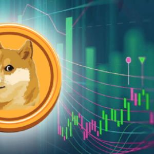 picture of a dogecoin with a chart next to it