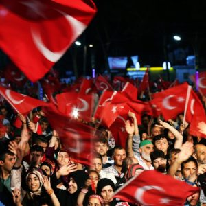 War against Bitcoin, people with Turkish flags