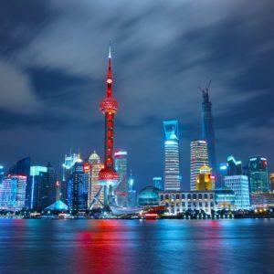 Evergrande, China skyline