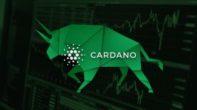 Picture a green paper bull with Cardano written on it