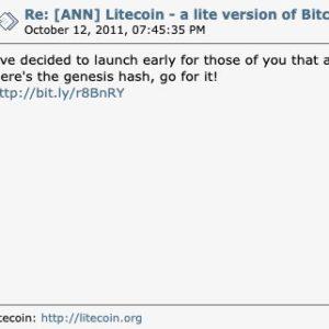 Charlie Lee, Litecoin header